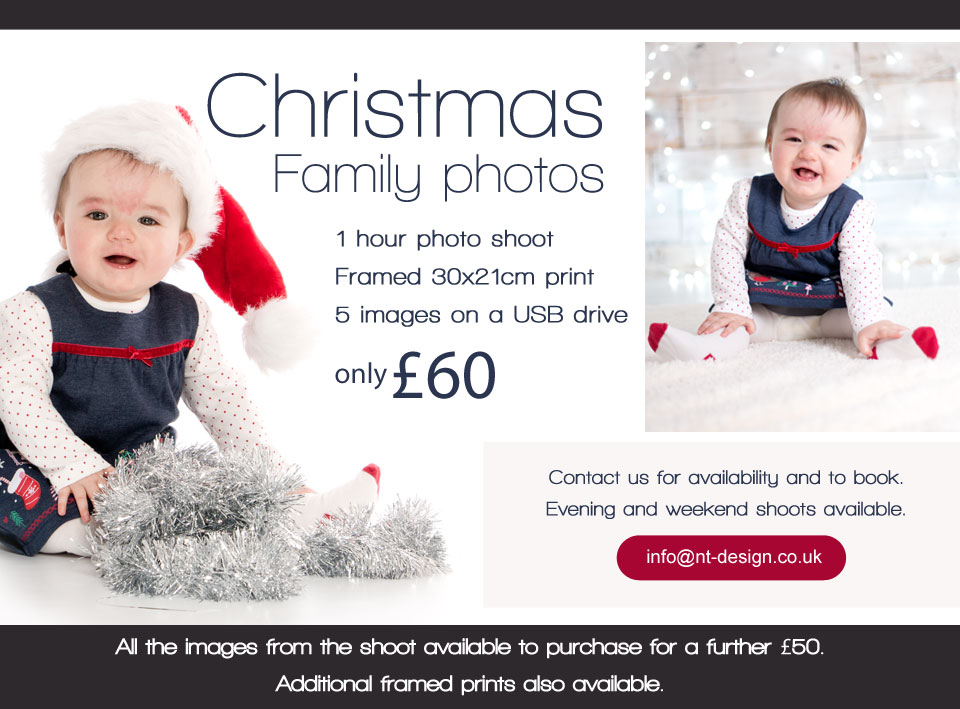 Christmas family photos from £60